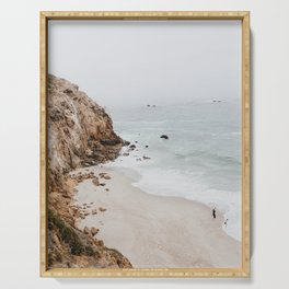 malibu coast / california Serving Tray