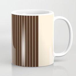Stripes - Brown & Beige Coffee Mug