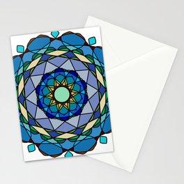 Vivid colored mandala Stationery Cards