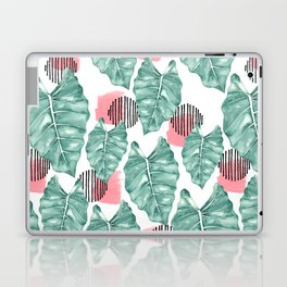 Watercolor tropical leaves abstract Laptop & iPad Skin