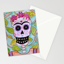 Mi Señora Frida Kahlo Painting by Prisarts Stationery Cards
