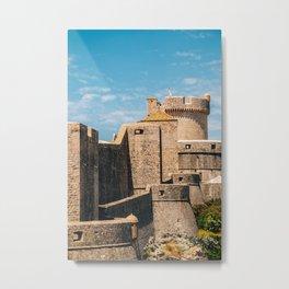 Dubrovnik city walls Metal Print