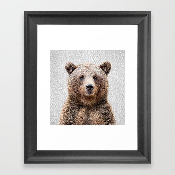 Grizzly Bear - Colorful Gerahmter Kunstdruck