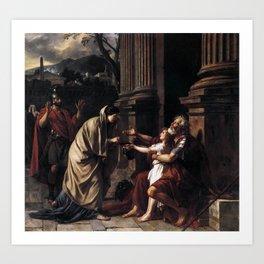 Jacques-Louis David - Belisarius Begging for Alms Art Print