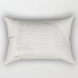 Relief [2]: an abstract, textured piece in white by Alyssa Hamilton Art Rectangular Pillow