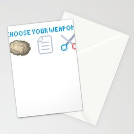 scissors stone paper lizard weapon game gift Stationery Cards