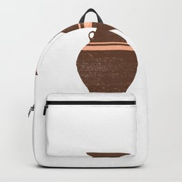 Greek Pottery 38 - Hydria - Terracotta Series - Modern, Contemporary, Minimal Abstract - Auburn Backpack