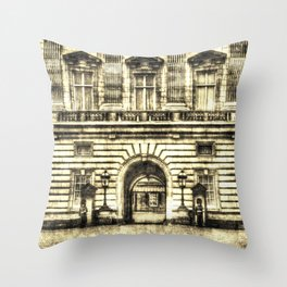 Buckingham Palace London Vintage Throw Pillow