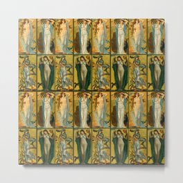 "Walter Crane ""Morn, Noon, Eve, Night"" Metal Print"