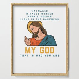 Jesus Christ Waymaker Miracle Worker  Serving Tray