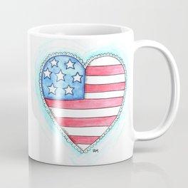 Patriotic Heart Coffee Mug