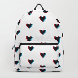 3D Hearts Backpack