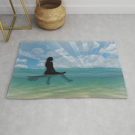 View from a Surfboard Rug