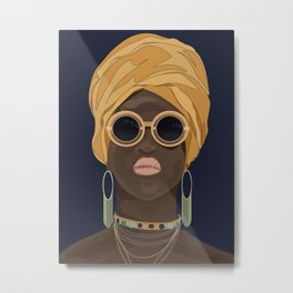 African Fashionista Metal Print