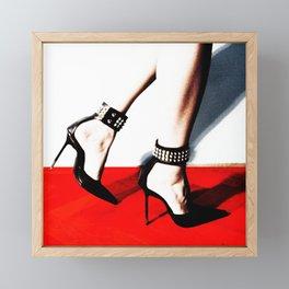 Walk the Line Framed Mini Art Print