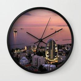 Limassol Twilight Wall Clock