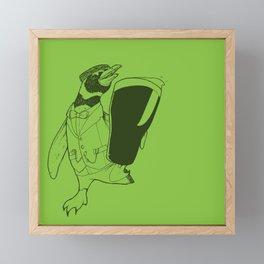 Séamus the Magellanic Beer Penguin Framed Mini Art Print