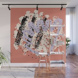 Hand drawn abstract design. Brushstrokes Wall Mural
