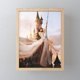In Disneyland with Yile Framed Mini Art Print