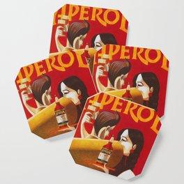 Aperol Alcohol Aperitif Spritz Vintage Advertising Poster Coaster