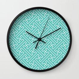 Lattice - Turquoise Wall Clock