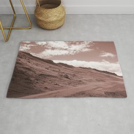 countryside reddened earth tone washed out effect aesthetic landscape art photography Rug