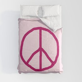 Peace and love 7 - pink Comforters
