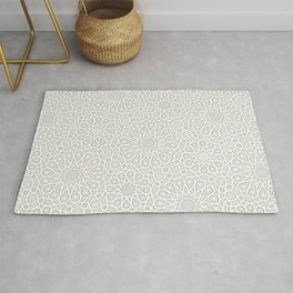 White Moroccan Tiles Pattern Rug
