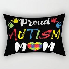 Proud Autism Mom Autism Awareness Gift Rectangular Pillow