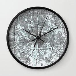 Columbus OH USA White City Map Wall Clock