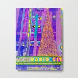 Radio City Music Hall with Holiday Tree, New York City, New York Metal Print