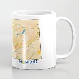 Montana Painted Map Coffee Mug
