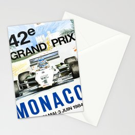 poster monaco 42e grand prix 1984 Stationery Cards