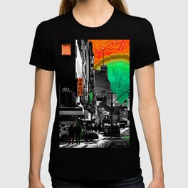 SynchroniCity - Meaningful Psychedelic Collage of NYC T-shirt
