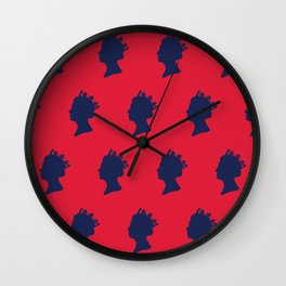 The Queens head Wall Clock