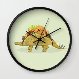 Tacosaurus - Taco Stegosaurus Dinosaur Wall Clock