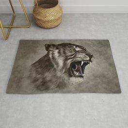 Roaring Liger - Digital Art Rug