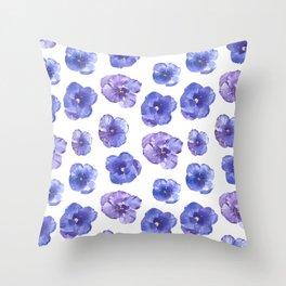 Wild pansies Throw Pillow