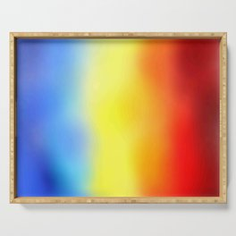 Flag of romania 7 - with cloudy colors Serving Tray