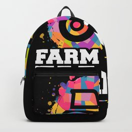 Farm Like A Farmer Tractor Gift Design Idea Backpack