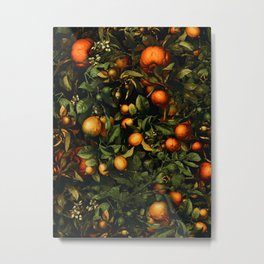 Vintage Fruit Pattern XX Metal Print