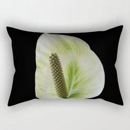 Peace Lily on Black #1 #floral #decor #art #society6 Rectangular Pillow