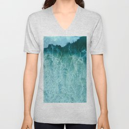 Sea And Ocean Waves 5 Unisex V-Neck
