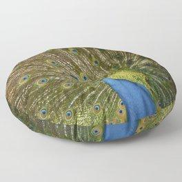Peacock. Floor Pillow