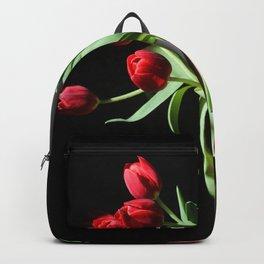 Dutch Tulips Print Backpack