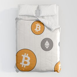 Ethereum and Bitcoin Pattern Comforters