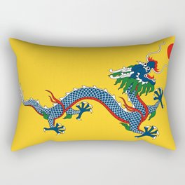 Chinese Dragon - Flag of Qing Dynasty Rectangular Pillow