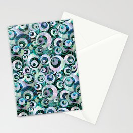 Abalone Mother of Pearl Circle Pattern Stationery Cards