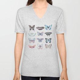 Butterflies in Blues Unisex V-Neck