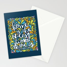 HOME IS THE NICEST WORD THERE IS. Stationery Cards